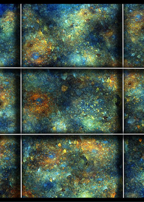 Star Greeting Card featuring the digital art Galaxies II by Betsy Knapp