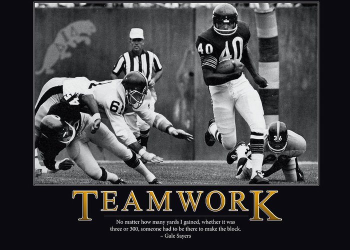 Gale Sayers Greeting Cards