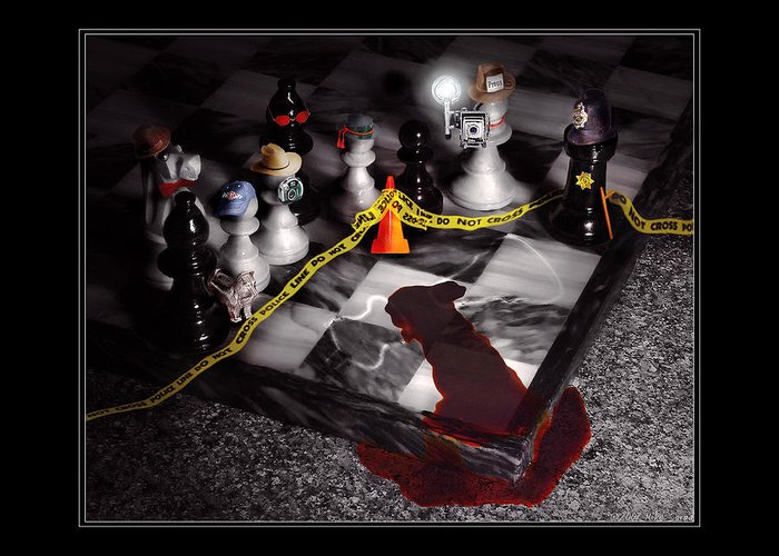 Savad Greeting Card featuring the photograph Game - Chess - It's Only A Game by Mike Savad