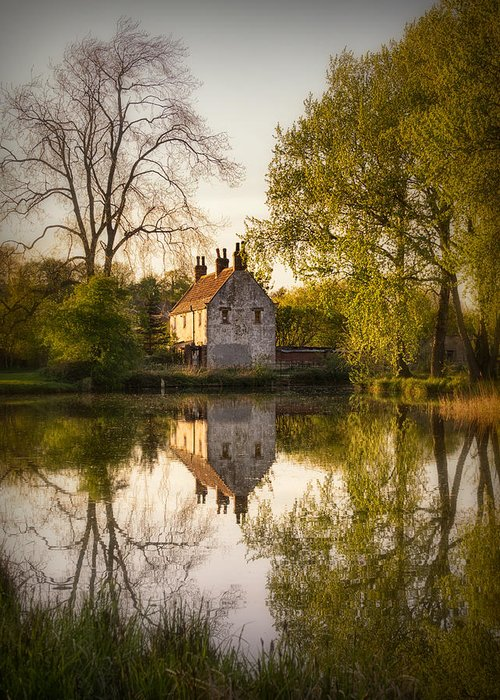 Landscape Greeting Card featuring the photograph Game Keepers Cottage Cusworth by Ian Barber