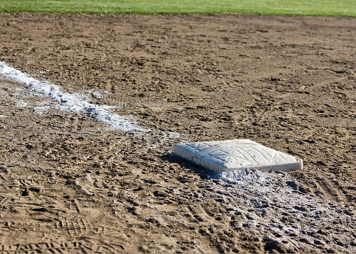 Baseball Diamond Greeting Card featuring the photograph Game Over by Bob Noble Photography