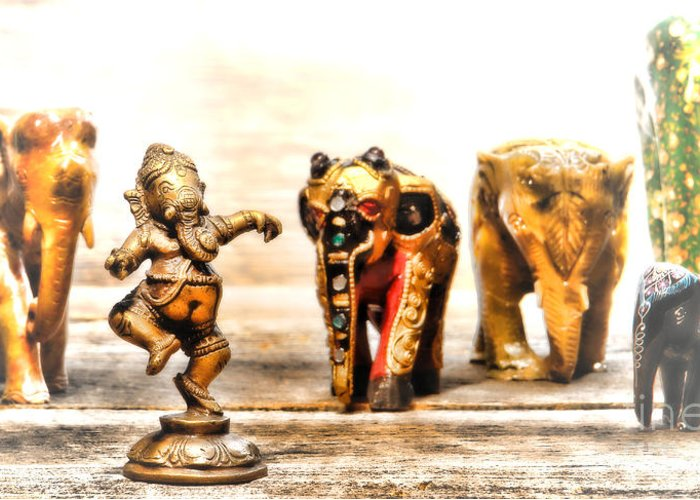 Hindu Greeting Card featuring the photograph Ganesh Dream by Olivier Le Queinec