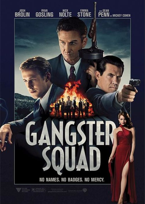 Gangster Squad Greeting Card featuring the photograph Gangster Squad by Movie Poster Prints