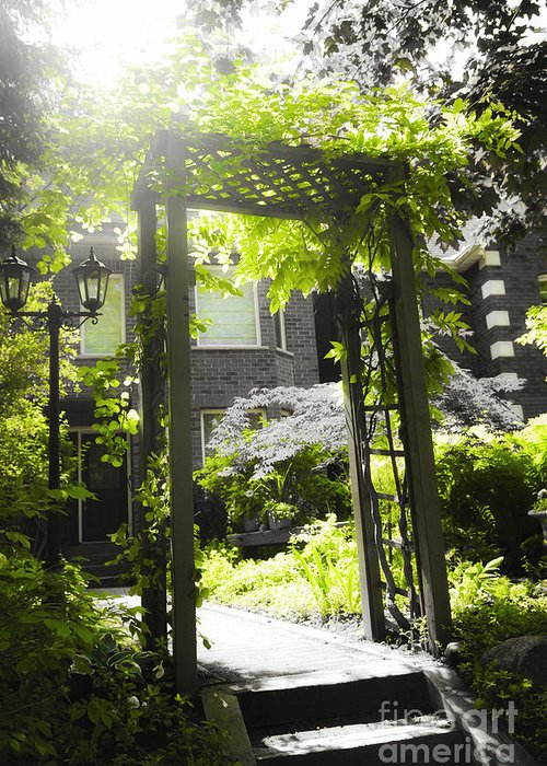 Arbor Greeting Card featuring the photograph Garden Arbor In Sunlight by Elena Elisseeva