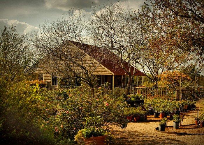Gardens Greeting Card featuring the digital art Garden Fantasy by Linda Unger