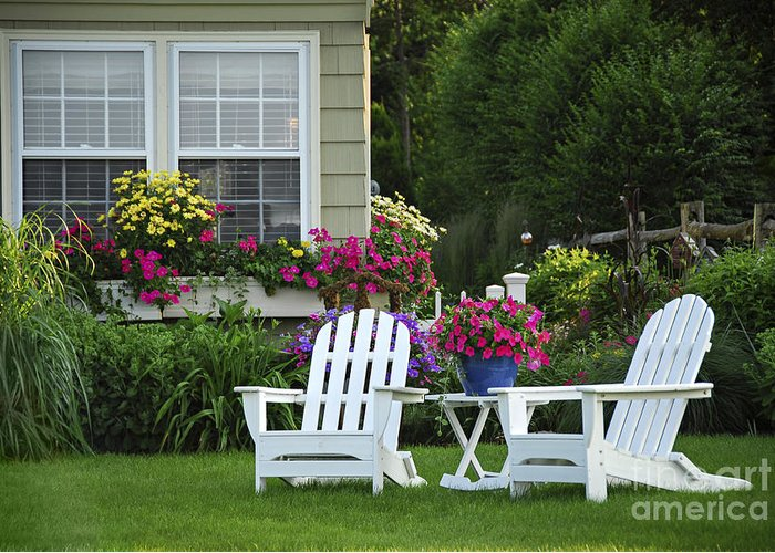 Lawn Chair Photographs Greeting Cards