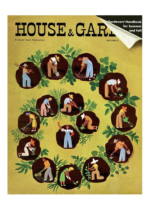 House And Garden Greeting Card featuring the photograph Gardeners And Farmers by Witold Gordon