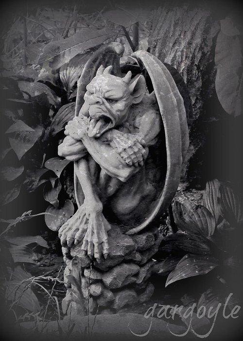 Statue Greeting Card featuring the photograph Gargoyle by Brenda Conrad