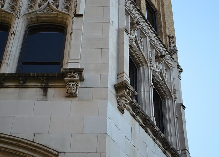 Architecture Greeting Card featuring the photograph Gargoyles by Shawn Marlow