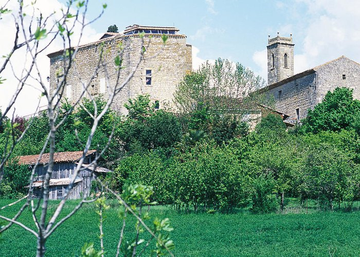 Village Greeting Card featuring the photograph Gascony Village by Bernard Barcos