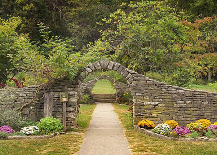 Indiana Landscapes Greeting Card featuring the photograph Gateway To The Garden by Wendell Thompson