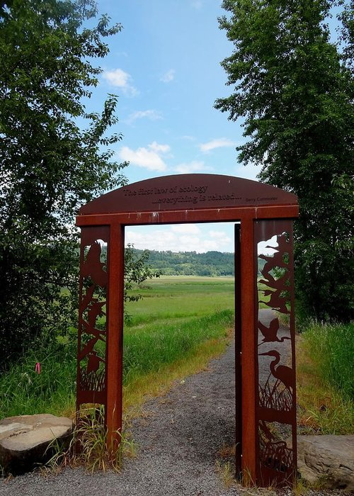 Steigerwald National Wildlife Refuge Greeting Card featuring the photograph Gateway To The Trail by Lizbeth Bostrom