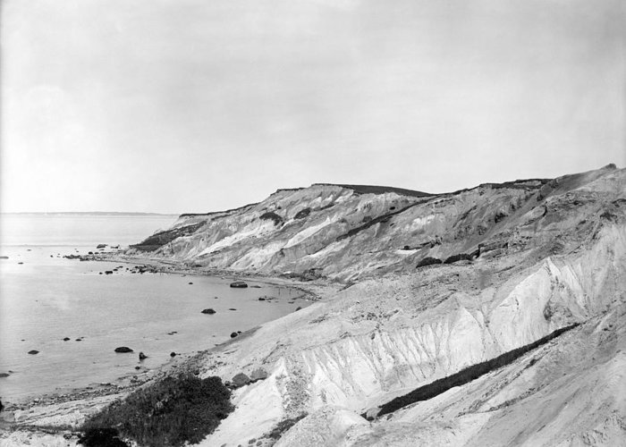 1903 Greeting Card featuring the photograph Gay Head Cliffs, C1903 by Granger