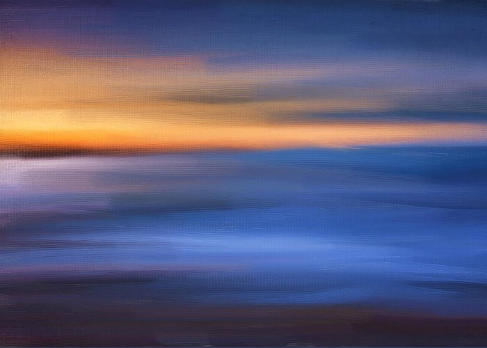 Seascapes Abstract Greeting Card featuring the digital art Gazing The Horizon by Lourry Legarde