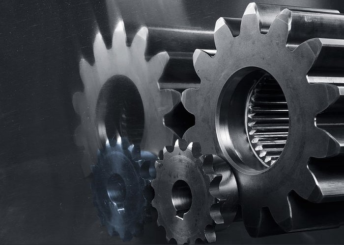 Gears Greeting Card featuring the photograph Gears And Power by Christian Lagereek