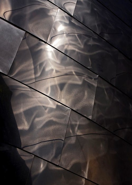 Abstract Greeting Card featuring the photograph Gehry Magic by Rona Black