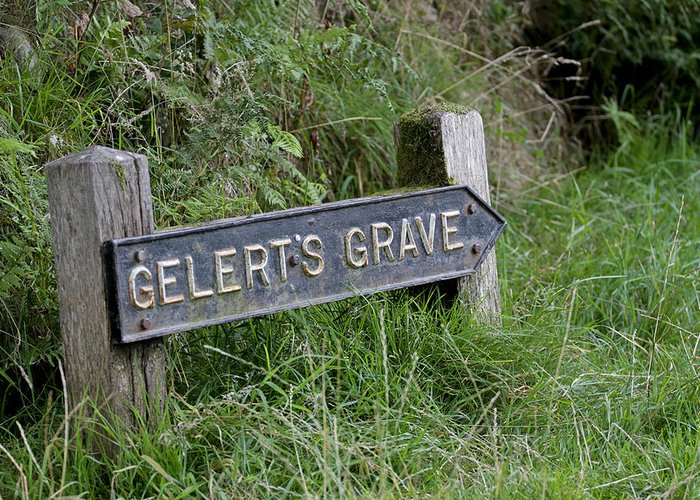 Gelert Greeting Card featuring the photograph Gelerts Grave by Simon Gregory