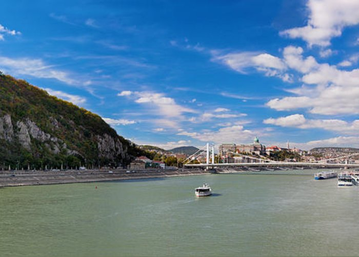 Budapest Greeting Card featuring the photograph Gellert Hill And Danuber River In Budapest by Michal Bednarek