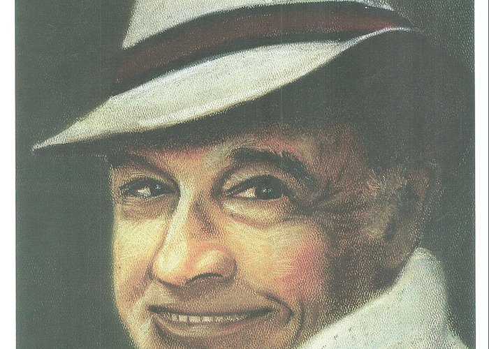Soft Pastel Portrait Greeting Card featuring the painting Gene Kelly by Ronnie Melvin