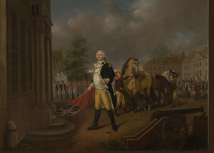 General Greeting Card featuring the painting General Humphreys Delivering by Nicolas Louis Albert Delerive