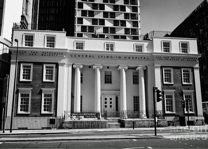 General Greeting Card featuring the photograph General Lying-in Hospital London England Uk by Joe Fox