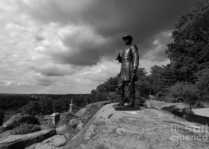 Gettysburg Greeting Card featuring the photograph General Warrens Finest Hour by James Brunker