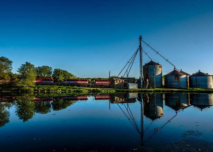 Feed Mill Photographs Greeting Cards