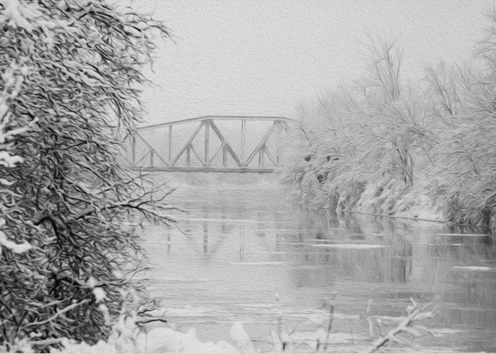 Genesee River Greeting Card featuring the photograph Genesee River by Tracy Winter