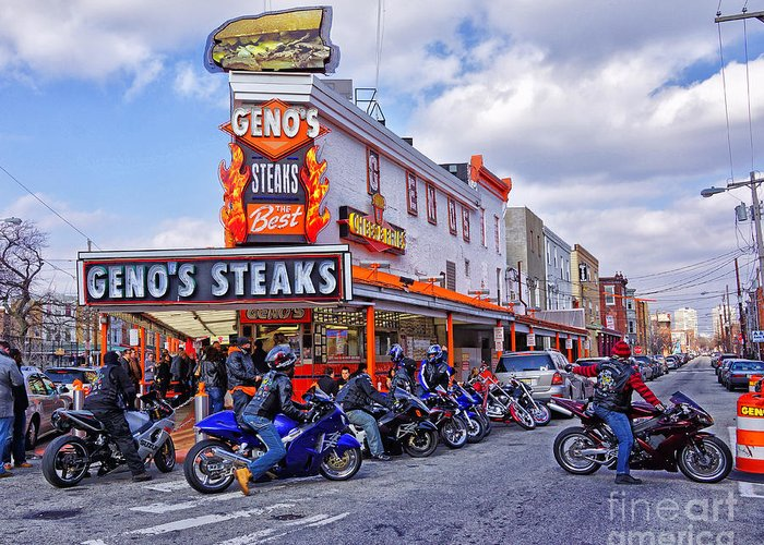 Geno's Greeting Card featuring the photograph Geno's 3 by Jack Paolini