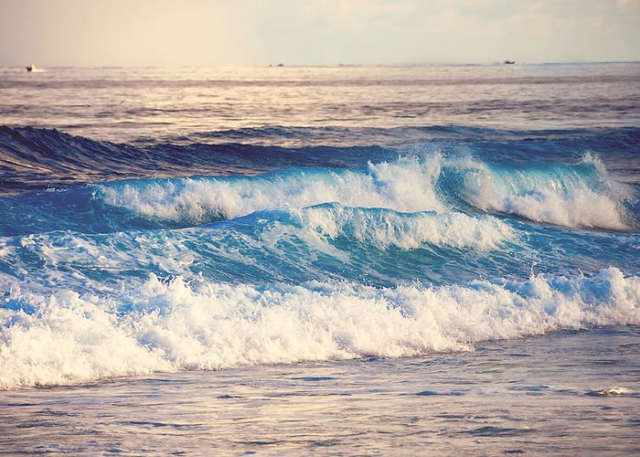 Ocean Greeting Card featuring the photograph Gentle Light by Jenny Rainbow