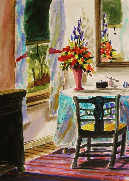 Watercolor Greeting Card featuring the painting Gentle Light by John Williams