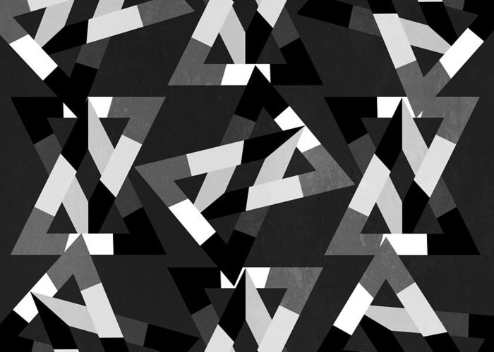 Contemporary Greeting Card featuring the digital art Geometric 12 by Mark Ashkenazi