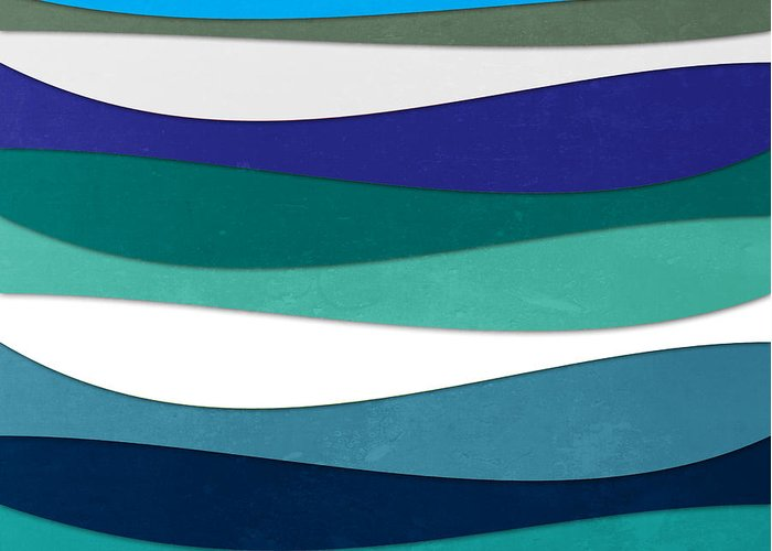 Contemporary Greeting Card featuring the digital art Geometric 16 by Mark Ashkenazi
