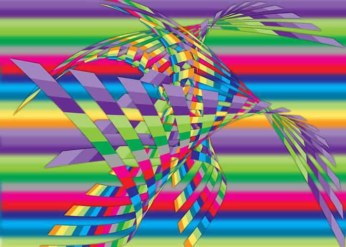 Contemporary Greeting Card featuring the digital art Geometric 3 by Mark Ashkenazi