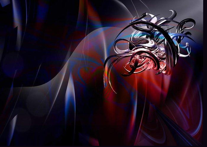 Geometric Greeting Card featuring the digital art Geometric 6 by Mark Ashkenazi