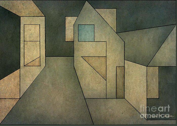 Geometric Greeting Card featuring the digital art Geometric Abstraction II by David Gordon