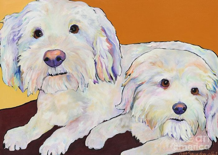 Pat Saunders-white Greeting Card featuring the painting George And Henry by Pat Saunders-White