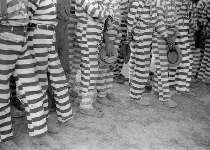 1941 Greeting Card featuring the photograph Georgia Prisoners, 1941 by Granger