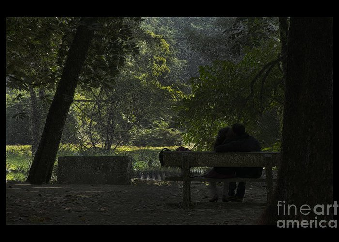 Lovers Greeting Card featuring the photograph Romantic Moments by Kiran Joshi