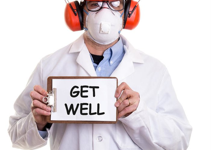 Custom Greeting Card featuring the photograph Get Well by Edward Fielding