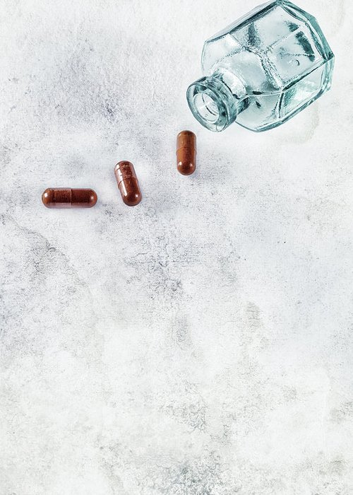 Pill Greeting Card featuring the photograph Get Well Soon by Joana Kruse