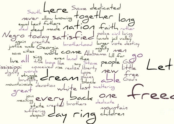 Martin Luther King Greeting Card featuring the photograph Gettysburg Address And I Have A Dream by David Bearden