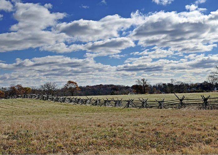 Gettysburg Greeting Card featuring the photograph Gettysburg Battlefield - Pennsylvania by Brendan Reals