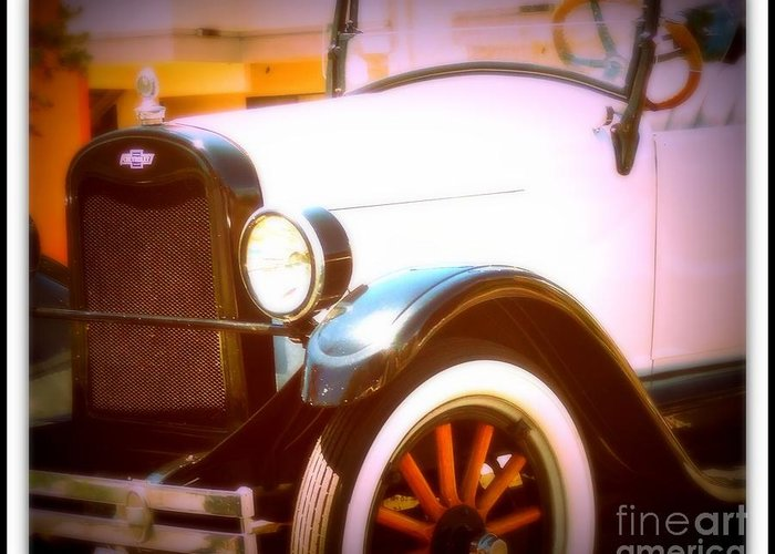 Classic Car Print Greeting Card featuring the photograph Ghost From The Past by Bobbee Rickard
