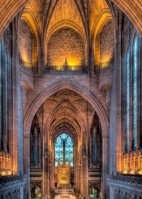 Aisle Greeting Card featuring the photograph Ghost In The Cathedral by Adrian Evans