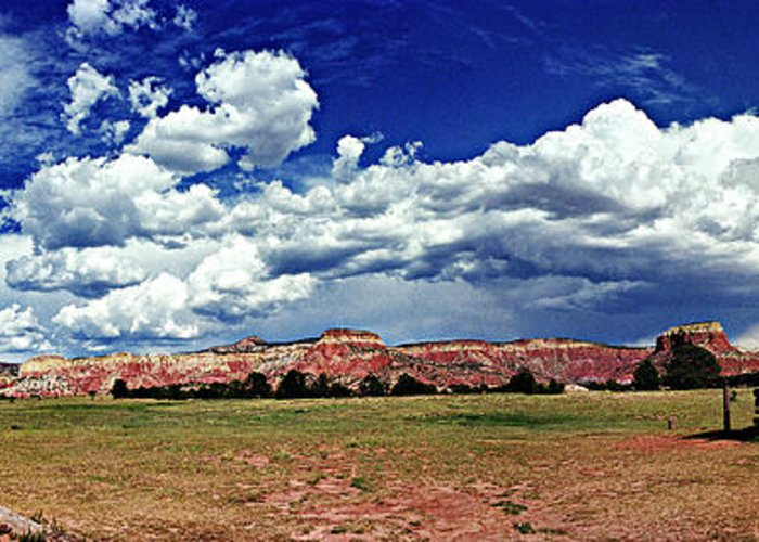 Ghost Ranch Greeting Card featuring the photograph Ghost Ranch by Ken Carney