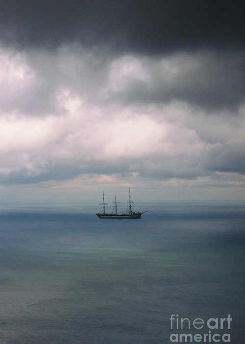 Water Greeting Card featuring the photograph Ghost Ship by Margie Hurwich