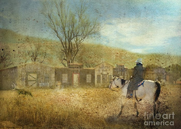 Cowboy Greeting Card featuring the photograph Ghost Town #1 by Betty LaRue