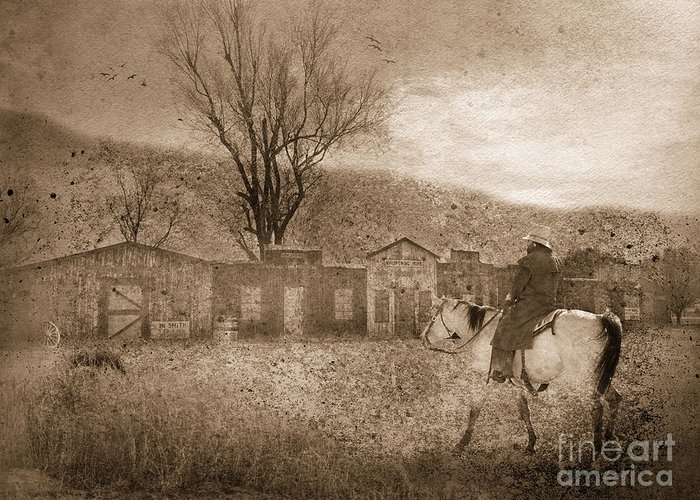 Cowboy Greeting Card featuring the photograph Ghost Town #2 by Betty LaRue