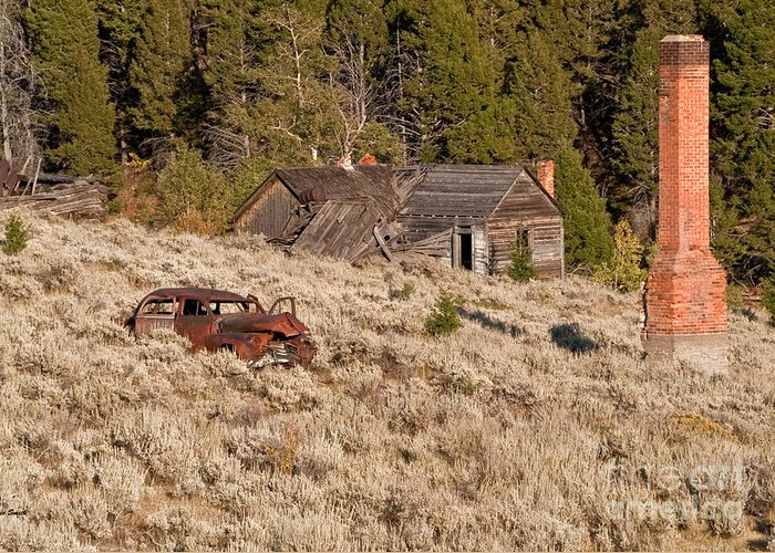 Comet Greeting Card featuring the photograph Ghost Town Remains by Sue Smith